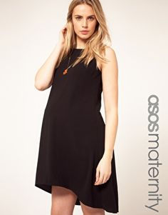 ASOS Maternity Exclusive Swing Dress With Dipped Hem