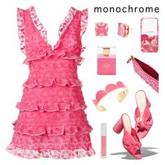 """""""Head-to-Toe Pink"""" by deepwinter ❤ liked on Polyvore featuring Loeffler Randall, Giamba and Kate Spade"""