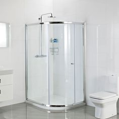 Roman Haven One Door Offset Quadrant is ideal for a bathroom where space is limited. Comes in various sizes. Item available at Victorian Plumbing.