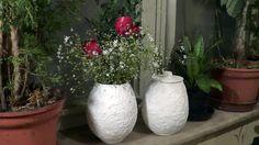 POTS AND VASES FROM PAPER MACHET Vasos e potes de jornal (Vases and pots from newspaper) - Part 1