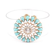 Gabby Bracelet in Turquoise on Clear