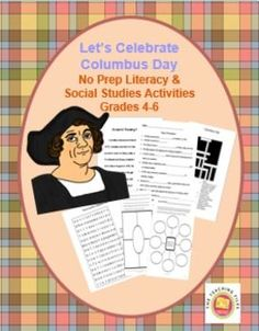 Not sure what to do for Columbus Day? This no-prep packet includes content…