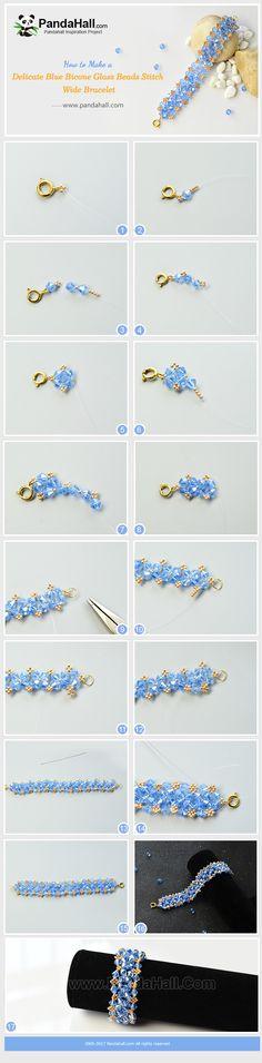 PandaHall inspiration proyecto - Delicate glass beads bracelet