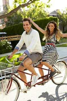 One day, I'd like to ride a tandem bike.