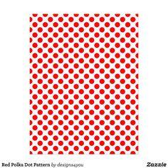 Red Polka Dot Pattern Custom Letterhead