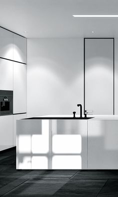 Hi-Spec Design specialise in bespoke Kitchen and Interior Design. We design and supply beautiful German and Italian furniture for Kitchens and Bedrooms. Please telephone to make an appointment to discuss your requirements with our experienced design team. Minimalist Kitchen, Minimalist Interior, Black Kitchens, Home Kitchens, Interior Design Kitchen, Interior Decorating, Interior Minimalista, Interior Design Inspiration, Design Ideas