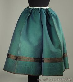 Old authentic peasant skirt from Kurpie Poland  antique
