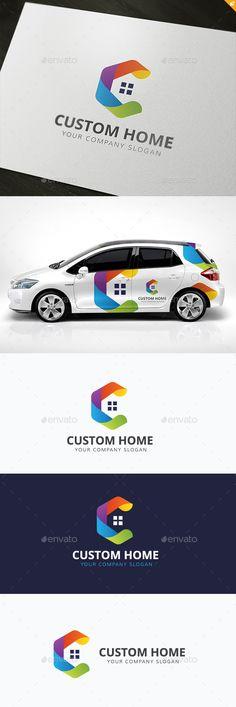 Custom Home Logo Template #design #logotype Download: http://graphicriver.net/item/custom-home/11937557?ref=ksioks