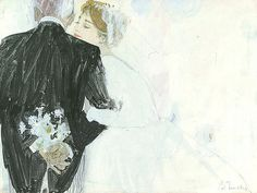 Bernie Fuchs - 'Bride and her Father' - Telluride Gallery of Fine Art Art Painting Gallery, Painting & Drawing, Vintage Romance, Vintage Art, Here Comes The Bride, Cool Drawings, Art Inspo, Illustrators, Pop Art