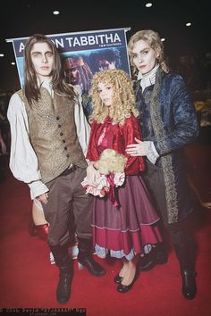 Louis de Pointe du Lac, Claudia, and Lestat de Lioncourt (Vampire Chronicles) #cosplay at Holiday Matsuri 2016, Photo by DTJAAAAM