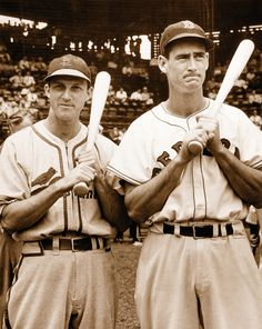 Stan Musial & Ted Williams...two of the best hitters of all time... Captain Hat, America, Coding, Baseball, Hats, Fashion, Moda, Sombreros, Hat