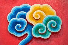 Cloud Painting Wall Chinese Temple Stock Photo (Edit Now) 74489653 Buddhism Symbols, Chinese Patterns, Tibetan Art, Cloud Art, Clouds Pattern, New Years Decorations, Oriental Pattern, Korean Art, China Art