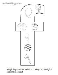 Játékos tanulás és kreativitás: Kisbetűkben képek a hangfelismerés gyakorlásához Dysgraphia, Letter Activities, Pre School, Worksheets, Symbols, Letters, Teaching, Education, Writing