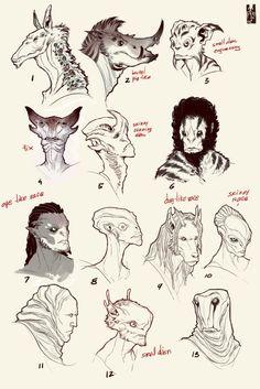 aliens head concept 2 [wanja90] by Zarnala on deviantART