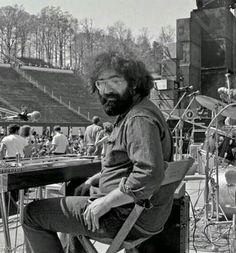 Jerry Garcia behind the pedal steel as New Riders of the Purple Sage / NRPS opened for the Grateful Dead at Duke University's Joe College Weekend in Grateful Dead Shows, David Nelson, Bruce Hornsby, Phil Lesh And Friends, Jerry Garcia Band, Mickey Hart, Miss Your Face, Hippies, Music