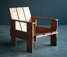 Gerrit Rietveld Crate Chair | From a unique collection of antique and modern armchairs at https://www.1stdibs.com/furniture/seating/armchairs/