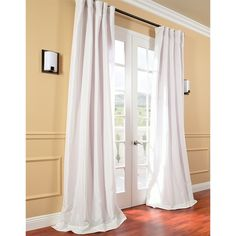 Signature Cream Faux Silk Taffeta 84-inch Curtain Panel - Overstock™ Shopping - Great Deals on EFF Curtains