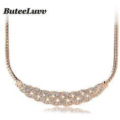 Suspension Crystal Spiral Necklace
