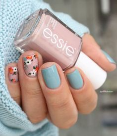 Pretty little nails for pretty little hands – Check out these super cute spring-themed #nailart designs to try at your next manicure!