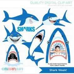 Sharks Week / Under The Sea / Shark Clip Art / by MyClipArtStore