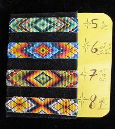 American Indian Bead Loom Patterns | Native American Huichol NEW Original Designs Beaded Bracelet - Your ...
