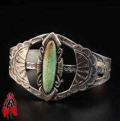 RARE Post Fred Harvey era vintage Navajo turquoise sterling silver bracelet 92.5