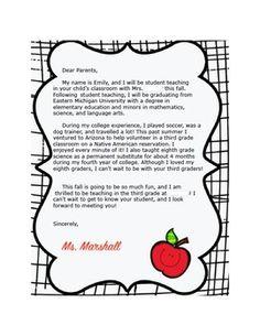 meet the teacher letter classroom ideas teacher