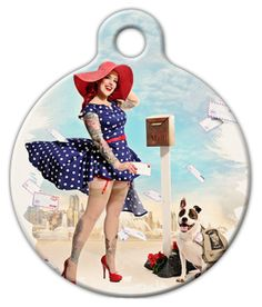 A super cute vintage tag for your sassy furry friend.