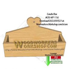 05-WP-116 - Candle Box Downloadable Scrollsaw Woodworking Pattern PDF. They still serve a use even today but you could also use the box to store anything else. Choose to add the heart or not, or come up with your own design!