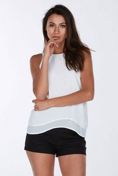 A super chic chiffon tank that'll upgrade any simple outfit!