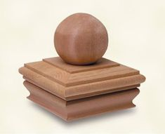Round Wood Fence Post Cap Version 3 | The Best Wood Furniture