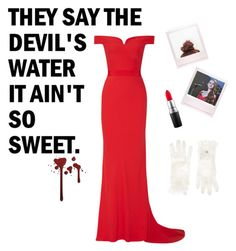 """""""cheryl blossom"""" by chocolart on Polyvore featuring Alexander McQueen, MAC Cosmetics and Monsoon"""