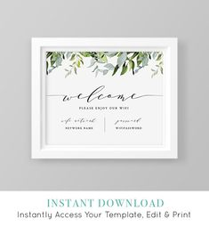 Your place to buy and sell all things handmade - Wifi Sign Template, Printable Wifi Password, Welcome Guest Room Internet Sign, Editable, INSTA - Free Wifi Password, Wifi Password Printable, Internet, Guest Room Decor, Sign Templates, Guest Bedrooms, Wi Fi, Printables, Photos