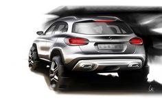 Mercedes-Benz GLA - Design Sketch