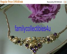 25% Off New Year Sale Vintage Purple by familycollectibles4U