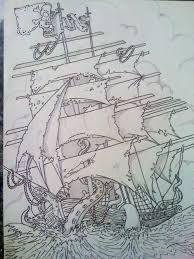 Kraken Pirate Ship Design by Pin-updoll on DeviantArt Pirate Ship Tattoos, Kraken Tattoo, Wall Street Journal, New Set, Pirates, Deviantart, Drawings, Artwork, Design