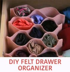 Keep Socks And Undies Neat With This Drawer Organizer DIY Schubladen Organizer Diy Drawer Organizer, Drawer Organisers, Diy Drawer Dividers, Diy Makeup Organizer Cardboard, Dresser Drawer Organization, Diy Cardboard, Fun Crafts, Diy And Crafts, Diys