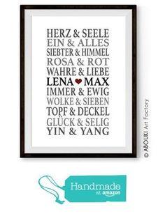 """ABOUKI Traumpaar """"Liebe"""" - Berühmte Paare, personalisierter Kunstdruck - ungerahmt - Fine-Art-Print, Typografie, Poster, Bild, Druck als Geschenk-Idee zum Geburtstag, Valentinstag, Jahrestag, Hochzeit, Heirat, Verlobung, Ehe, Gastgeschenk von der Abouki Art Factory https://www.amazon.de/dp/B01M2D0SL6/ref=hnd_sw_r_pi_dp_NpUwybYR4QSXM #handmadeatamazon"""