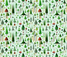 life in arrow tree forest fabric by azbeen on Spoonflower - custom fabric