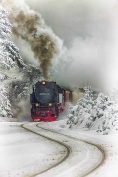Harz Steam Train. Saxony-Anhalt, Germany. A beautiful train surrounded by beautiful scenery!