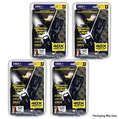 Atomic Beam LED Flashlight by BulbHead, 5000 LUX, 5 Beam Modes, Tactical Light Bright Flashlight (4 Pack) #Atomic #Beam #Flashlight #BulbHead, #LUX, #Modes, #Tactical #Light #Bright #Pack)