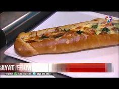 Bayat ekmek ile sucuklu pide börek ve şöbiyet tatlısı nasıl yapılır Videolu Tarif Hot Dog Buns, Hot Dogs, Hotels, Bread, Search, Image, Food, Brot, Searching