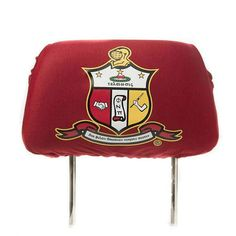 Kappa Headrest Cover Each sold separately Kappa Alpha Psi Fraternity, Greek Paraphernalia, Car Seat Headrest, Knights Helmet, Car Covers, Extra Storage, Car Seats, Pouch, Letters