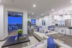 Loved working with the purpley blues in this Grey Lynn apartment. Evening shot.