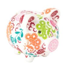 Lil' Piggy Bank in Lola, $24.00   Vera Bradley - WHAT!?!?!?!  How did I not know of these???