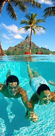 The InterContinental Bora Bora Resort & Thalasso Spa Bora Bora Resorts, Beach Resorts, Hotels And Resorts, Summer Paradise, Tropical Paradise, Dream Vacations, Vacation Spots, Romantic Vacations, Italy Vacation