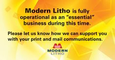 Print is an essential business!
