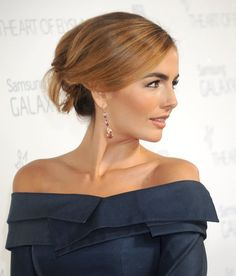 Pin for Later: Celebrities Brought Their Beauty Best to These Golden Globes Parties Camilla Belle Camilla's Art of Elysium Heaven Gala updo was reminiscent of 1950s Hollywood glamor.