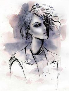 fashion illustration by Lara Wolf #fashion #illustration #watercolor #photoshop #pen