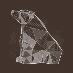Awesome 'Geometric+Nature+-+Bear' design on TeePublic!
